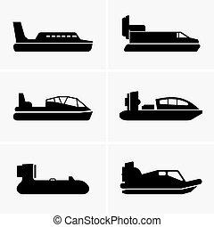 Hovercrafts.