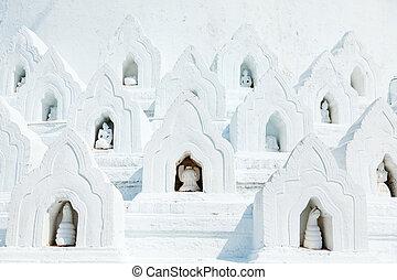 hsinbyume, myanmar, pagode, mingun, detail