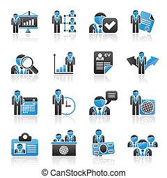 Human Ressource und Beschäftigung Icons.