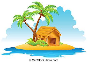 Hut auf der Insel