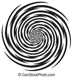 hypnose, design, spiralförmiges muster