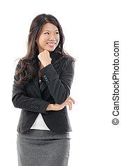 Ich denke an eine asiatische Geschäftsfrau