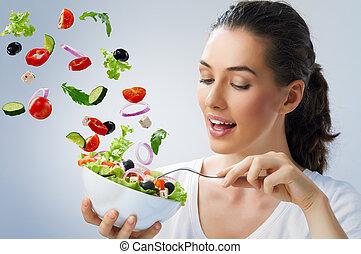 Ich esse gesundes Essen
