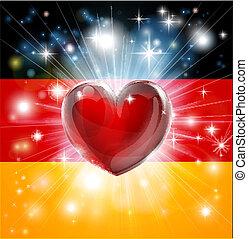 Ich liebe deutsche Flaggenherzen