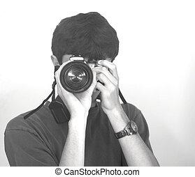 Ich mache ein Foto