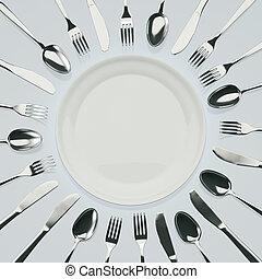 Ich warte auf das Abendessen