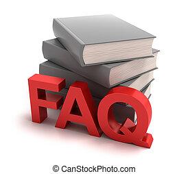 Icon of FAQ mit Büchern dahinter