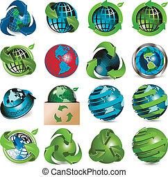 Icons Globus