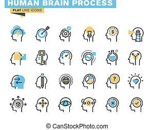 Icons sind ein menschliches Gehirn.