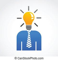 Ideen und kreative, abstrakte menschliche Ikone