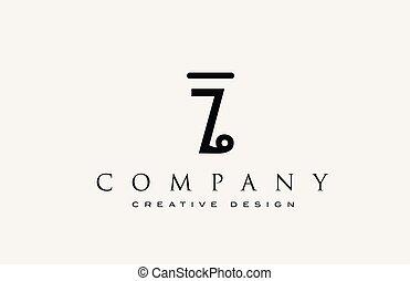 ikone, alphabet, logo., brief, identity., korporativ, beschriftung, professionell, z, elegant, schablone, abstraktes design, weinlese