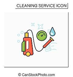 ikone, farbe, druck, wäsche