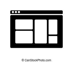 ikone, silhouette, webpage