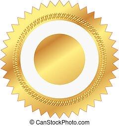 Illustration des Goldsiegels.