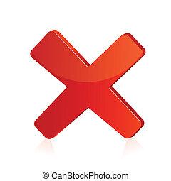 Illustration des roten Kreuzzeichens auf isoliertem Hintergrund