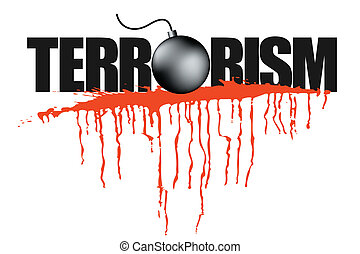 Illustration des Terrorismus