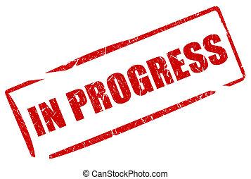 Im Fortschrittsstempel