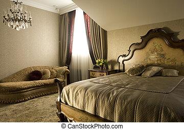 In einem Schlafzimmer