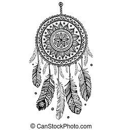 indianer, träumen auffänger, ethnisch
