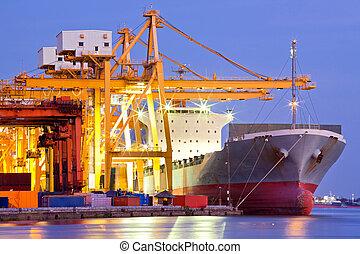Industriecontainer Frachtschiff