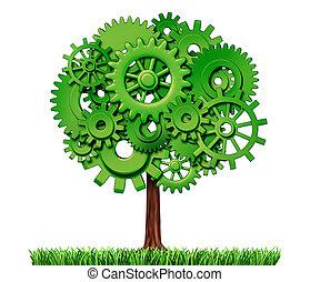 Industrieunternehmen erfolgreicher Baum