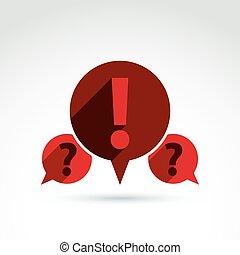 Information Sammeln und Austausch Themen Icon, Dialog Sprache bu.