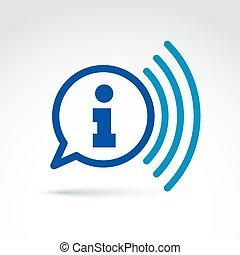 Information Sammeln und Austausch Themen Icon, News, Vektor-Konzept ungewöhnlich Symbol für Ihr Design.