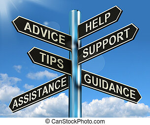 informationen, hilfe, wegweiser, rat, unterstuetzung, spitzen, anleitung, shows