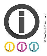 Informationszeichen-Ikone.
