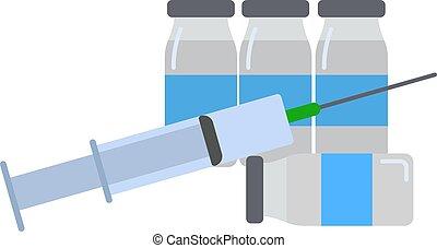 Injektion isoliert auf weißem Hintergrund