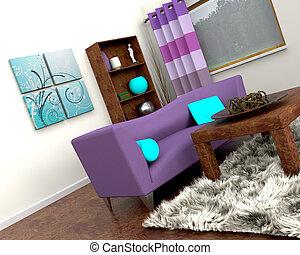 inneneinrichtung, sofa, zeitgenössisch