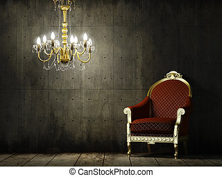 Innenraum mit klassischem Sessel