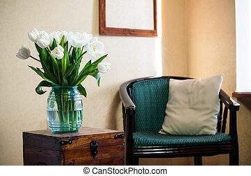 Innenraum, Vintagestuhl.