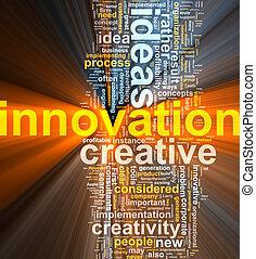 Innovations-Wort leuchtet