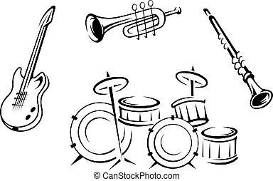 instrumente, satz, musikalisches