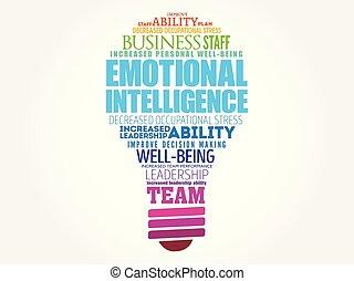intelligenz, emotional, zwiebel, wort, wolke, licht
