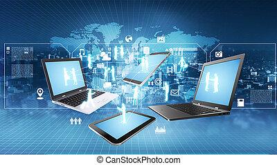 Internet-Informationstechnologie-Konzept.