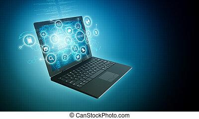 Internet-Informationstechnologie-Konzept