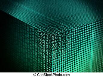 Internet- und Informationstechnologie-Datenform.