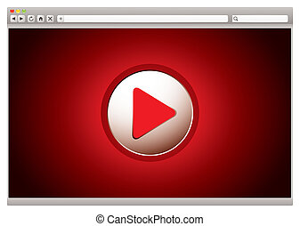 internet, video, rotes , browser