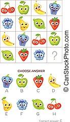 IQ-Test. Wählen Sie die richtige Antwort