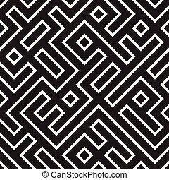 Irreguläres Labyrinth. Geometrisches Hintergrunddesign. Vector nahtlos.