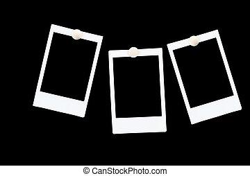 Isolierte Blankos-Poloidenbilder auf schwarzem Hintergrund