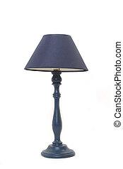 Isolierte blaue Lampe
