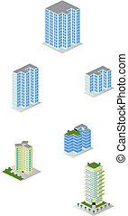Isometrische Stadtwohnungen