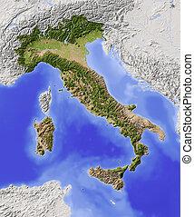 Italien, abgeschirmte Landkarte