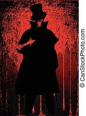 Jack der Ripper-Blut Hintergrund.