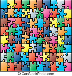 Jigsaw-Puzzle farbenfrohes Muster