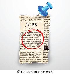 Job in der Zeitung.