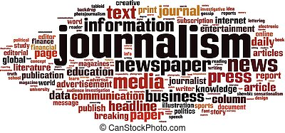 Journalismus Wortwolke Konzept